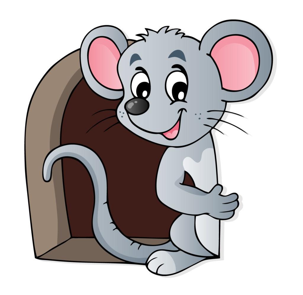 Картинки для детей нарисованные мышь